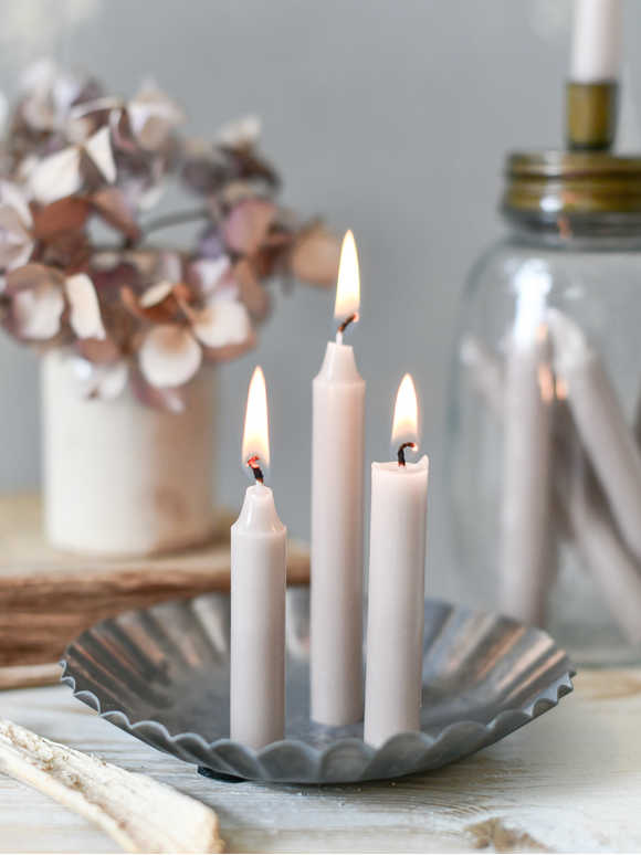 Pale Linen Mini Candle Set