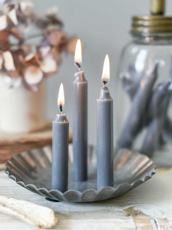 Grey Mini Candle Set