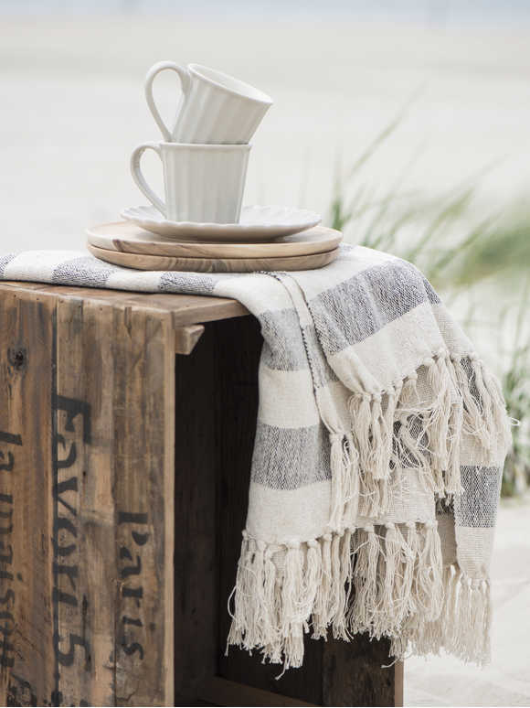 Wide Striped Throw