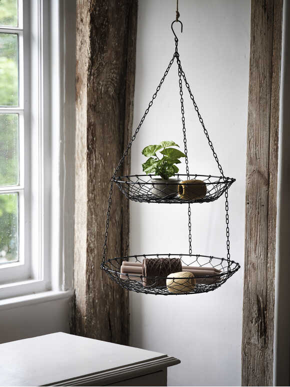 Two-Tiered Hanging Basket