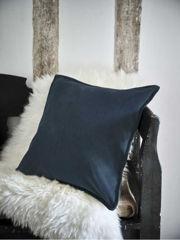 Heritage Blue Velvet Cushion