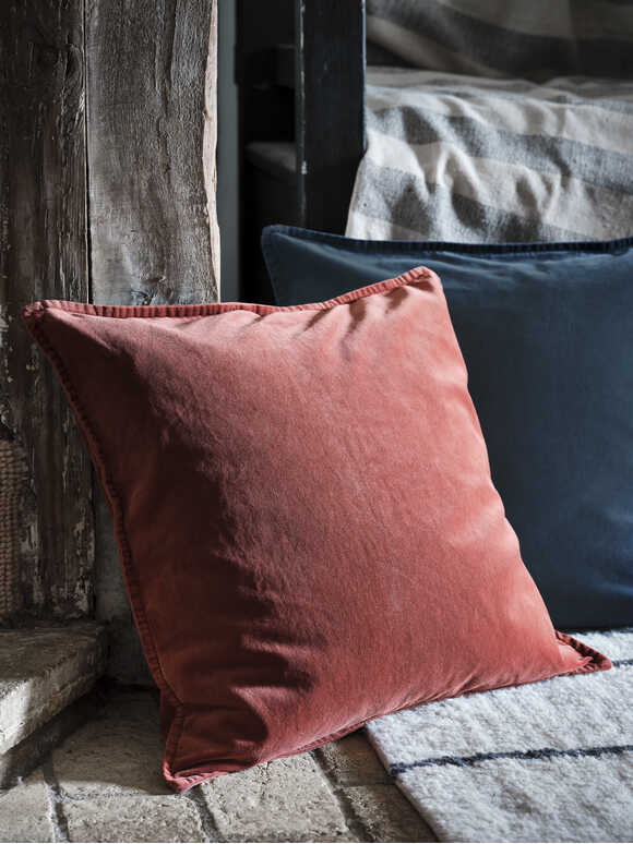 Deep Rust Velvet Cushion