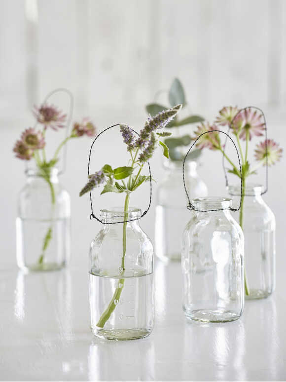 Mini Hanging Bottle Vases Set