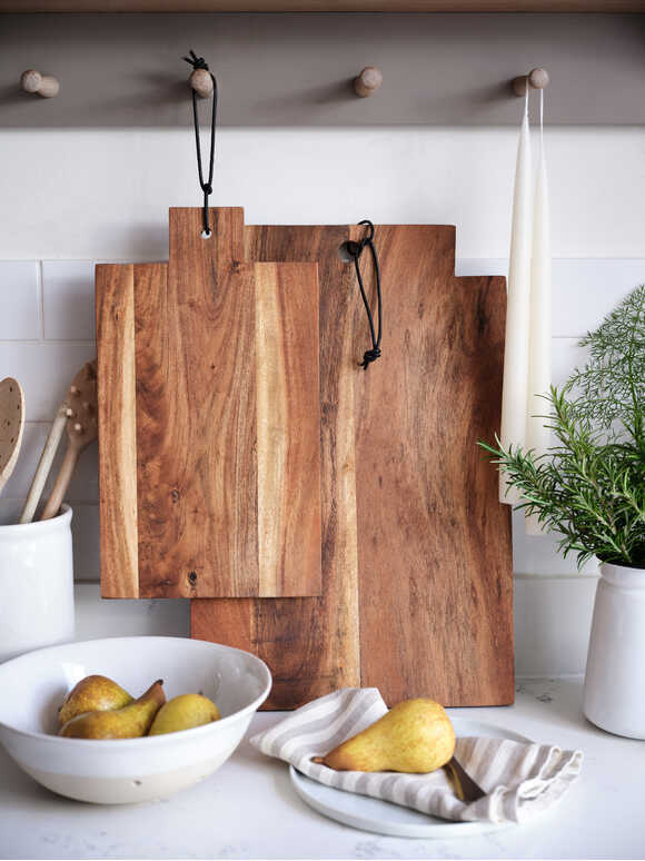 Oiled Acacia Serving Boards