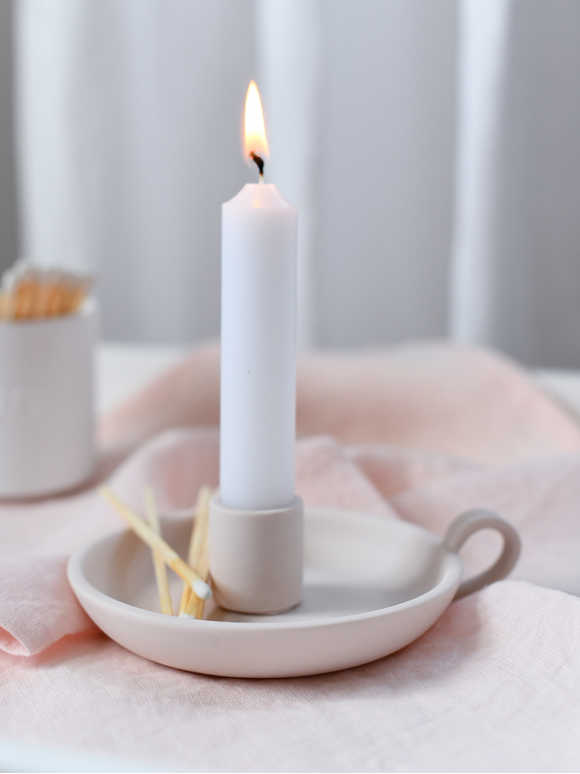 Elise Candle Holder - Blush Pink
