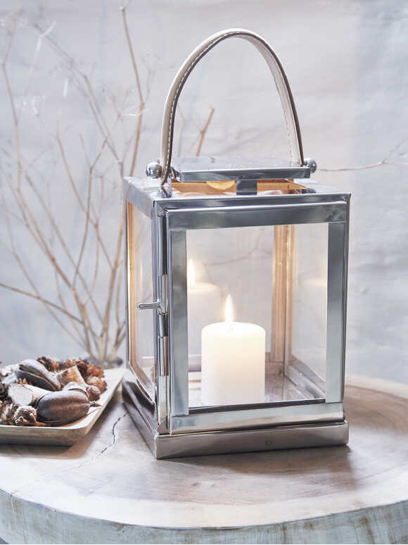 Stainless and Leather Lanterns