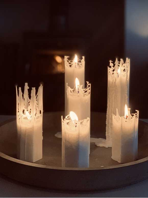 Spider Web Candles
