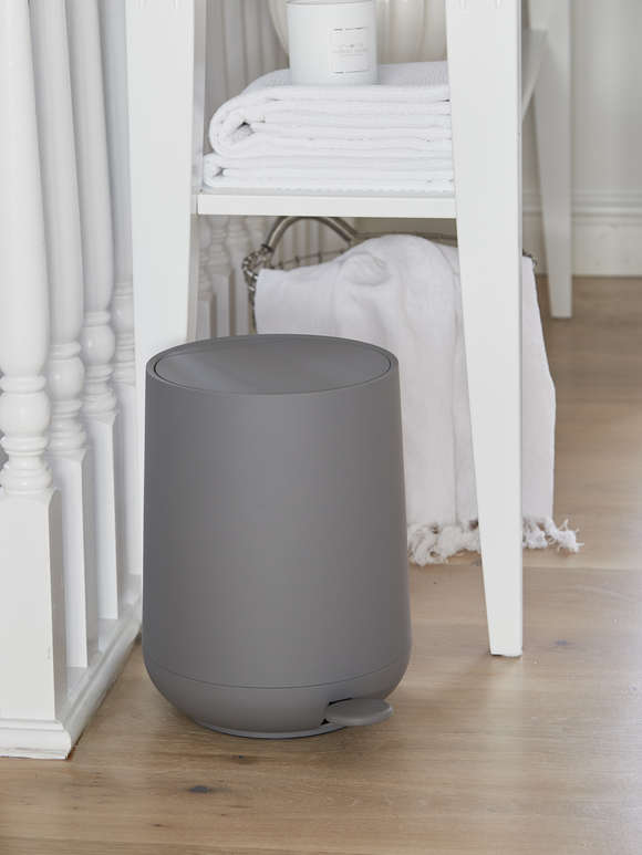 Soft Closing Grey Pedal Bin