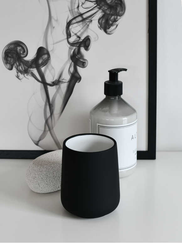 Black Toothbrush Mug