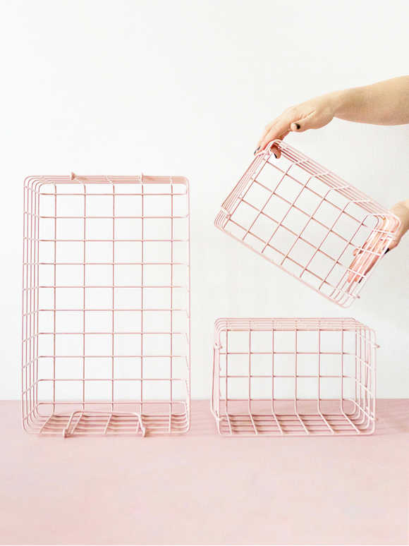 Loft Style Basket Set - Blush Pink