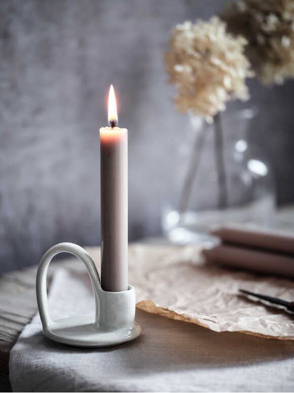 Dillie Stoneware Candle Holder