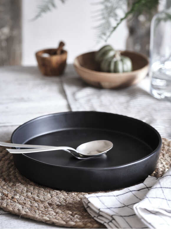 Deep Black Pasta Bowl