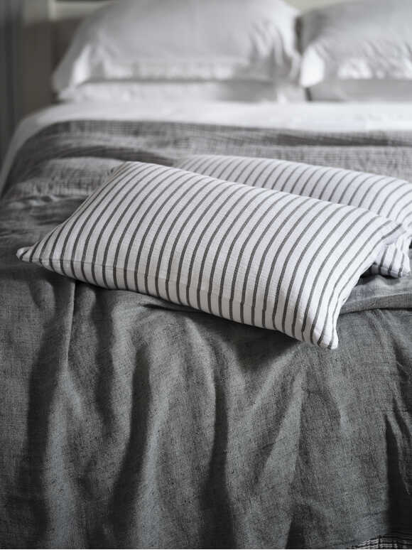 Grey Striped Cushion