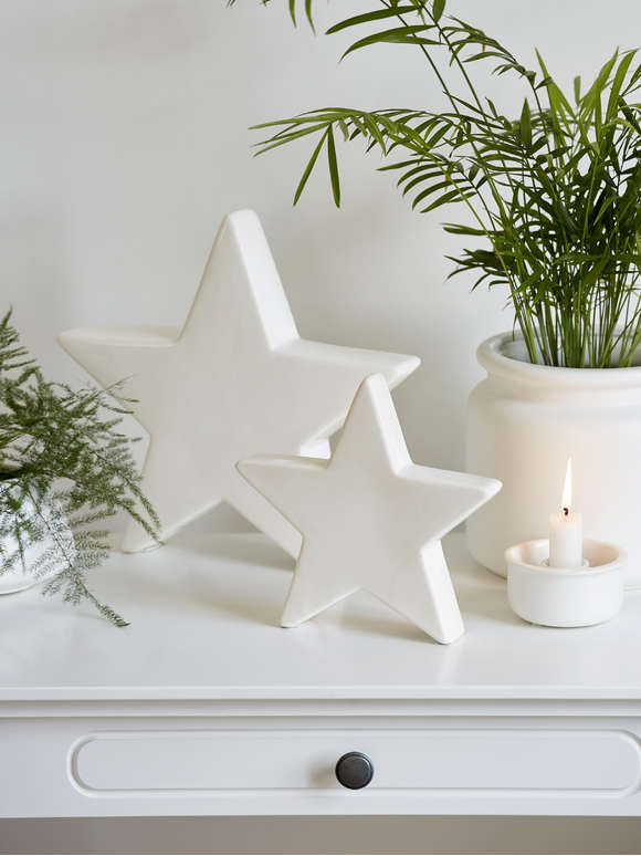 Decorative White Stars