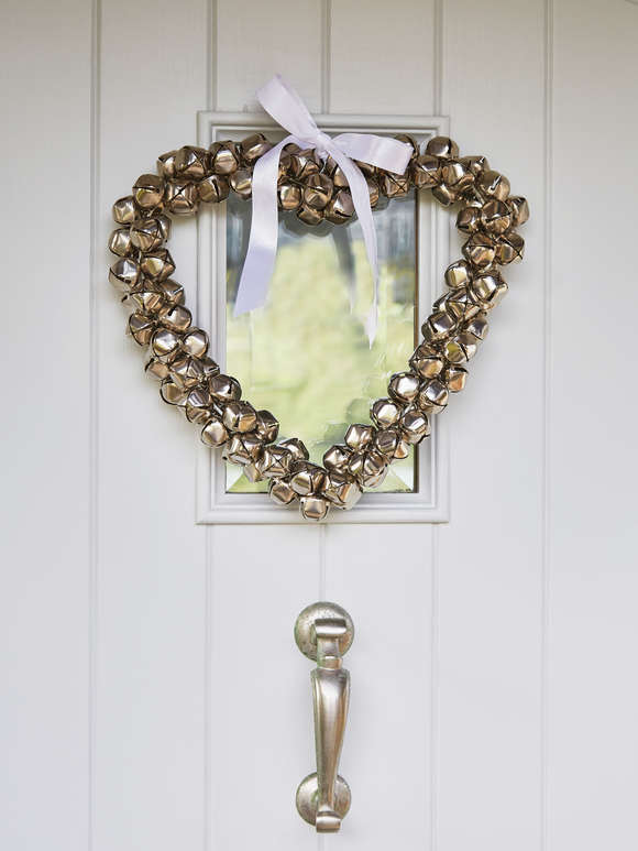Heart Bell Wreath