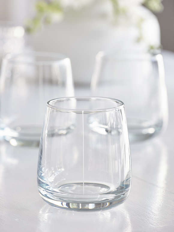 Elegant Etched Glass Tumblers