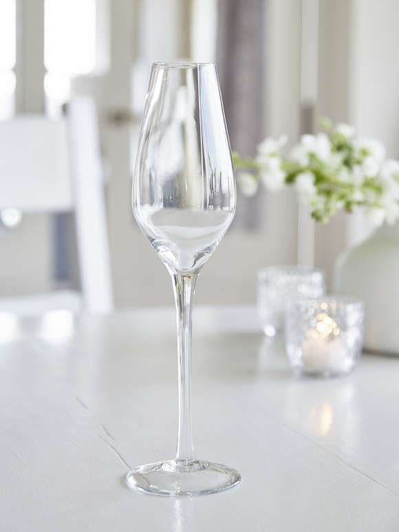 Elegant Etched Champagne Glasses