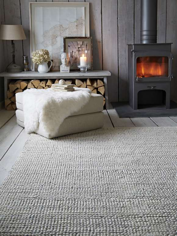 Grey Melange Wool Rug