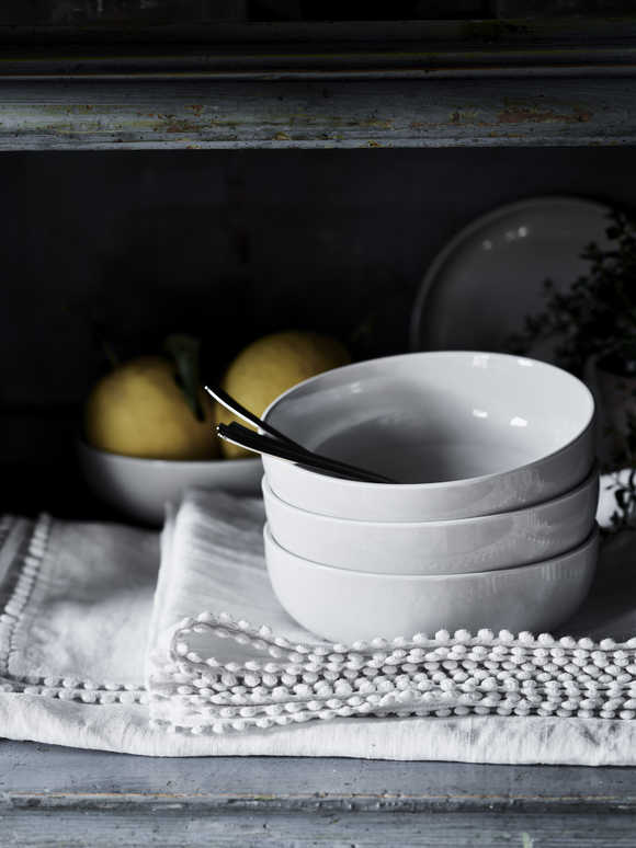 Artisan Grey Bone China Bowl