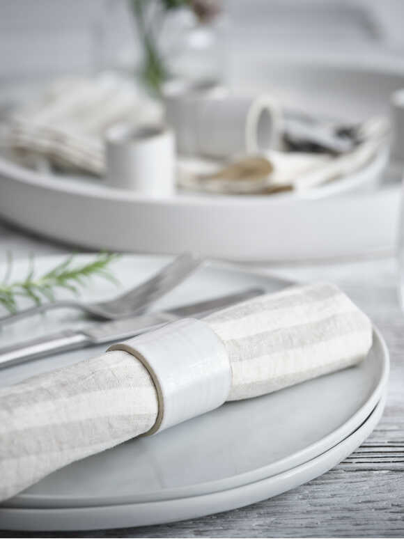 Sanne Ceramic Napkin Rings
