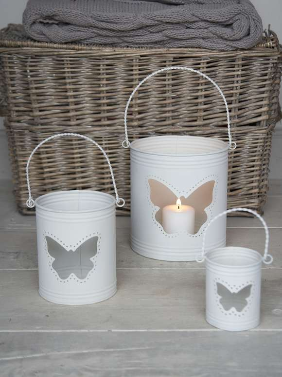 Butterfly Hurricane Lanterns