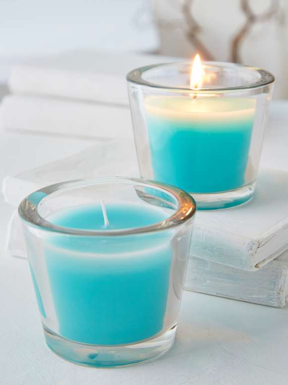 Topaz Glass Candle Votive