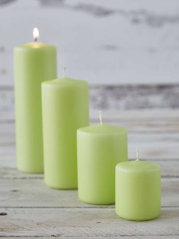 Lime Pillar Candles