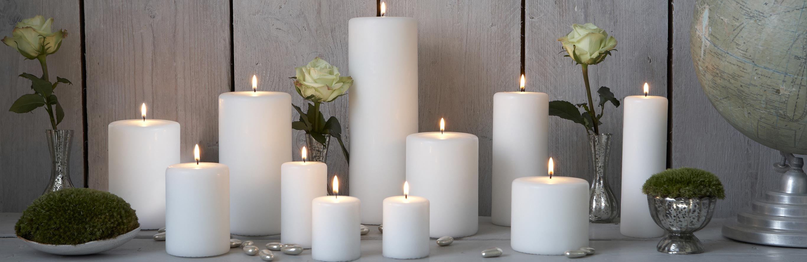 Nordic House  |  Stylish White Pillar Candles
