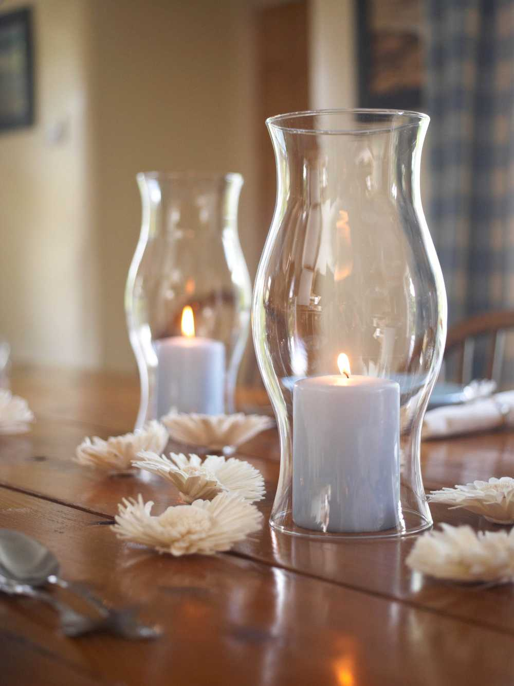 Hourglass Hurricane Sleeve Pillar Candle Hurricane