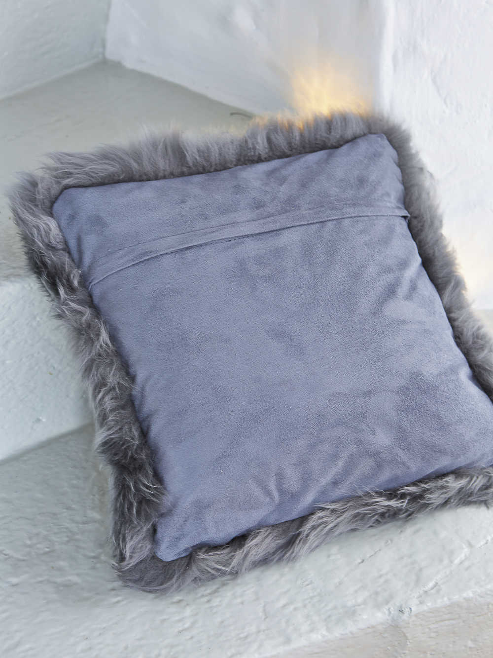 Luxurious Grey Sheepskin Cushion Nordic House