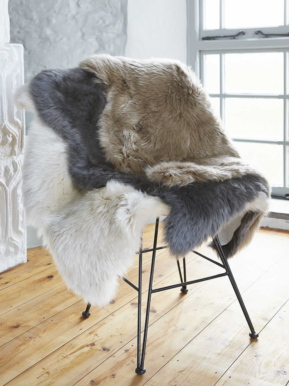 Luxurious Sheepskin Rug Grey Luxurious Grey Sheepskin Rug