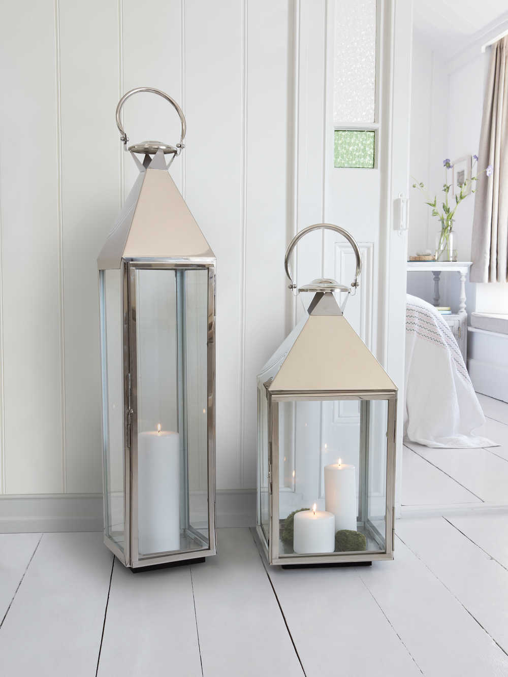 Big Stainless Steel Lanterns Large Candle Lanterns