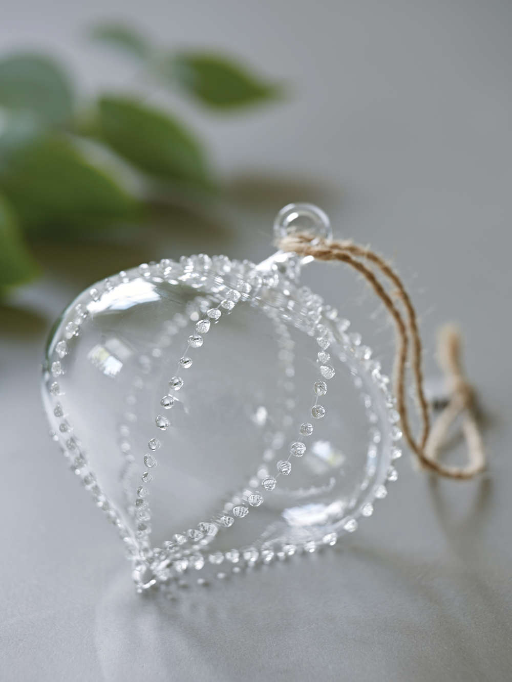 Beaded Glass Teardrop Ornament