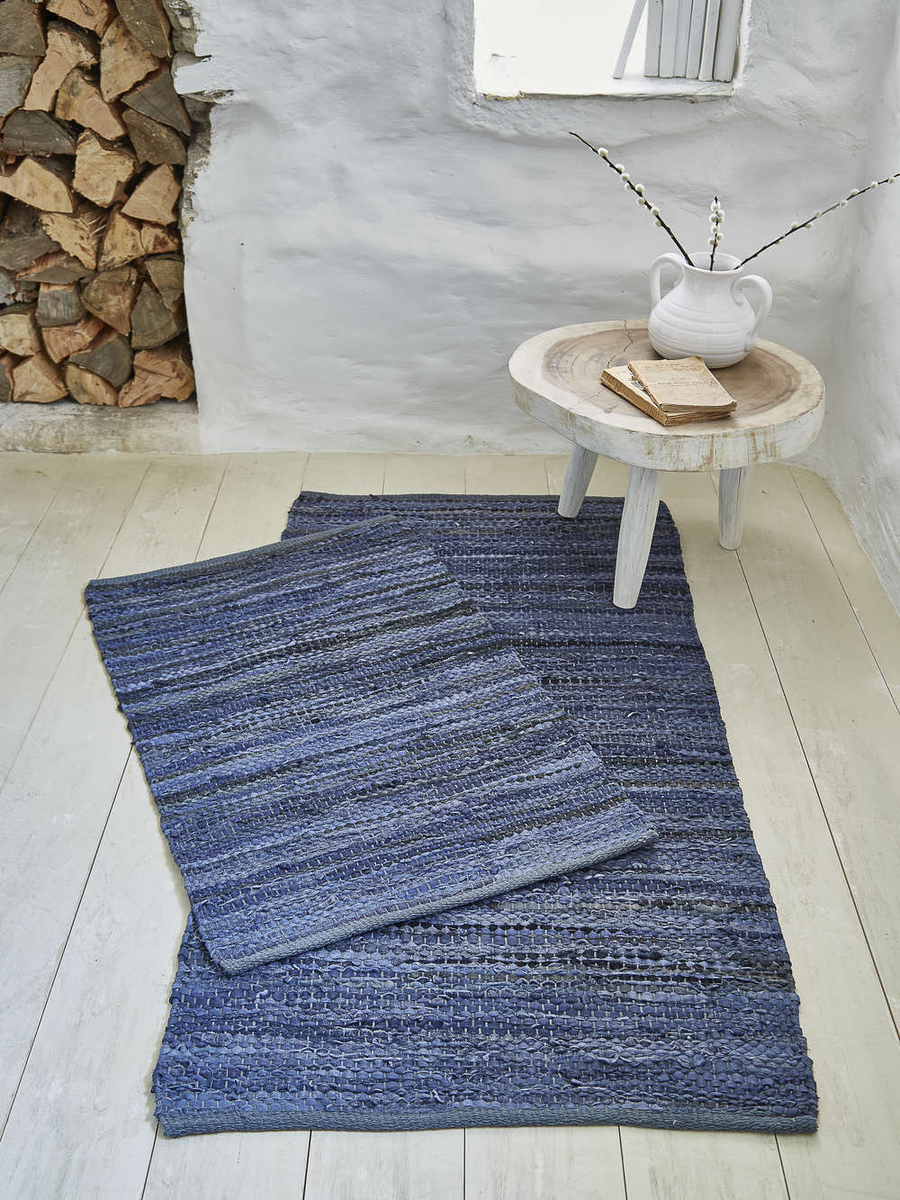 Cotton And Leather Rug 60x90cm