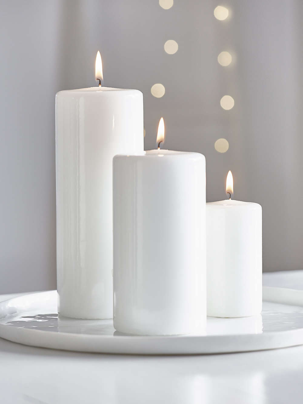 Glossy Pillar Candles Glossy White Pillar Candles