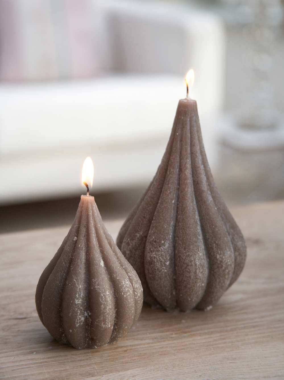 Dark Linen Onion Candles Rustic Onion Candle Nordic House