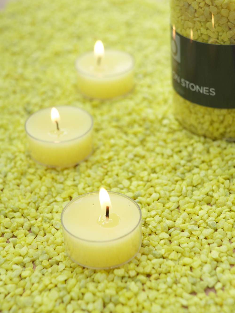Yellow Candle Gravel For Candles Amp Holders Nordic House