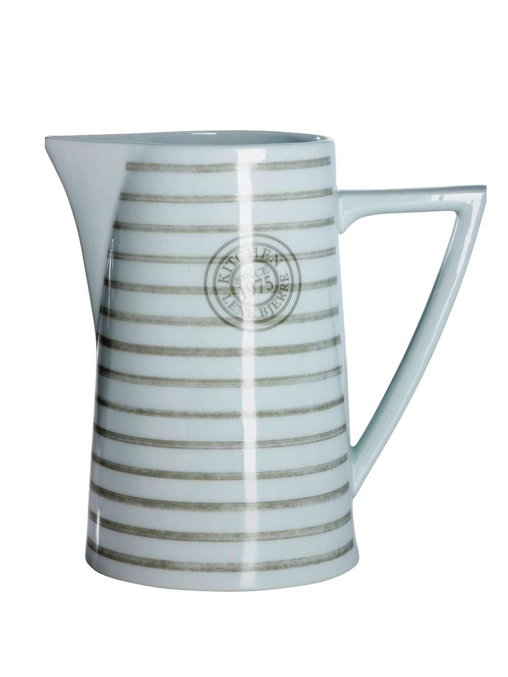 Striped Ceramic Pitcher Large Ceramic Pitcher Nordic House