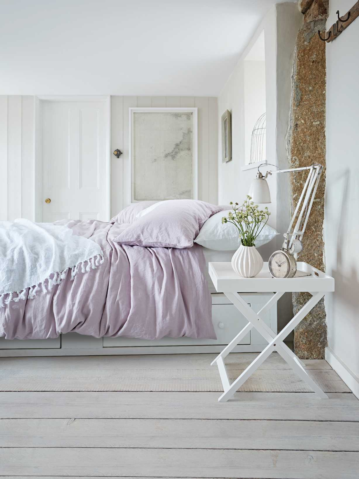 Nordic House Artisan Linen Bed Set - Heather Pink