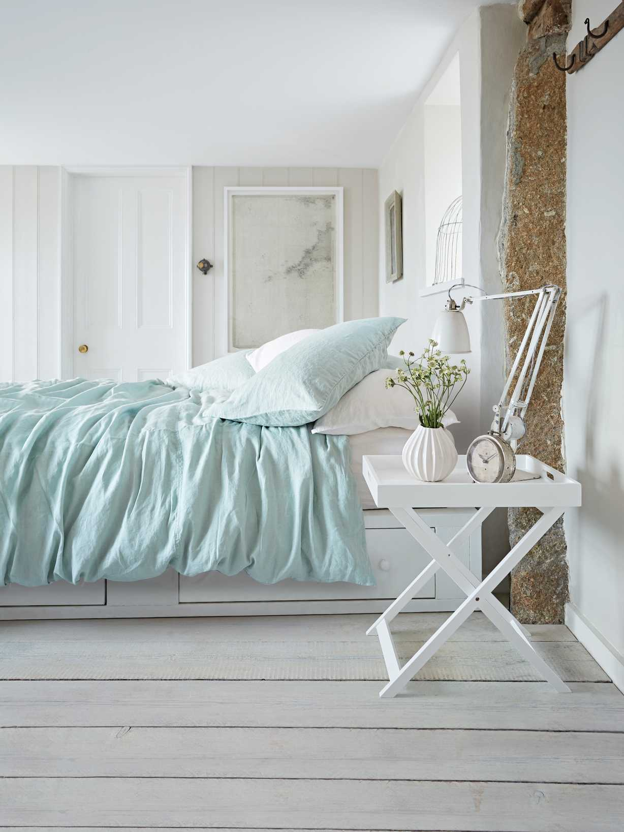 Nordic House Artisan Linen Bed Set - Soft Mint