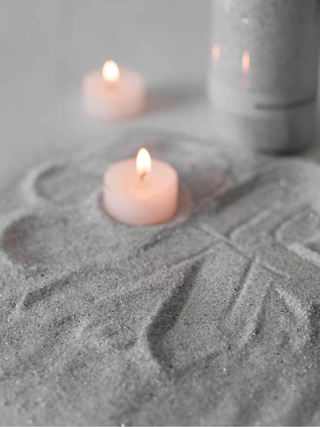 Nordic House Grey Candle Sand