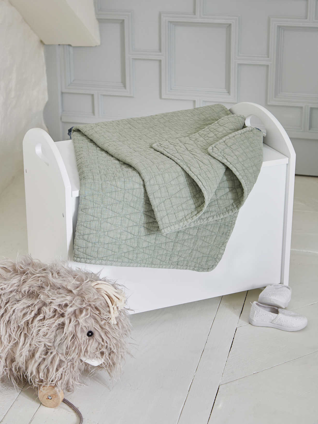 Nordic House Pram Blanket - Sleepy Green