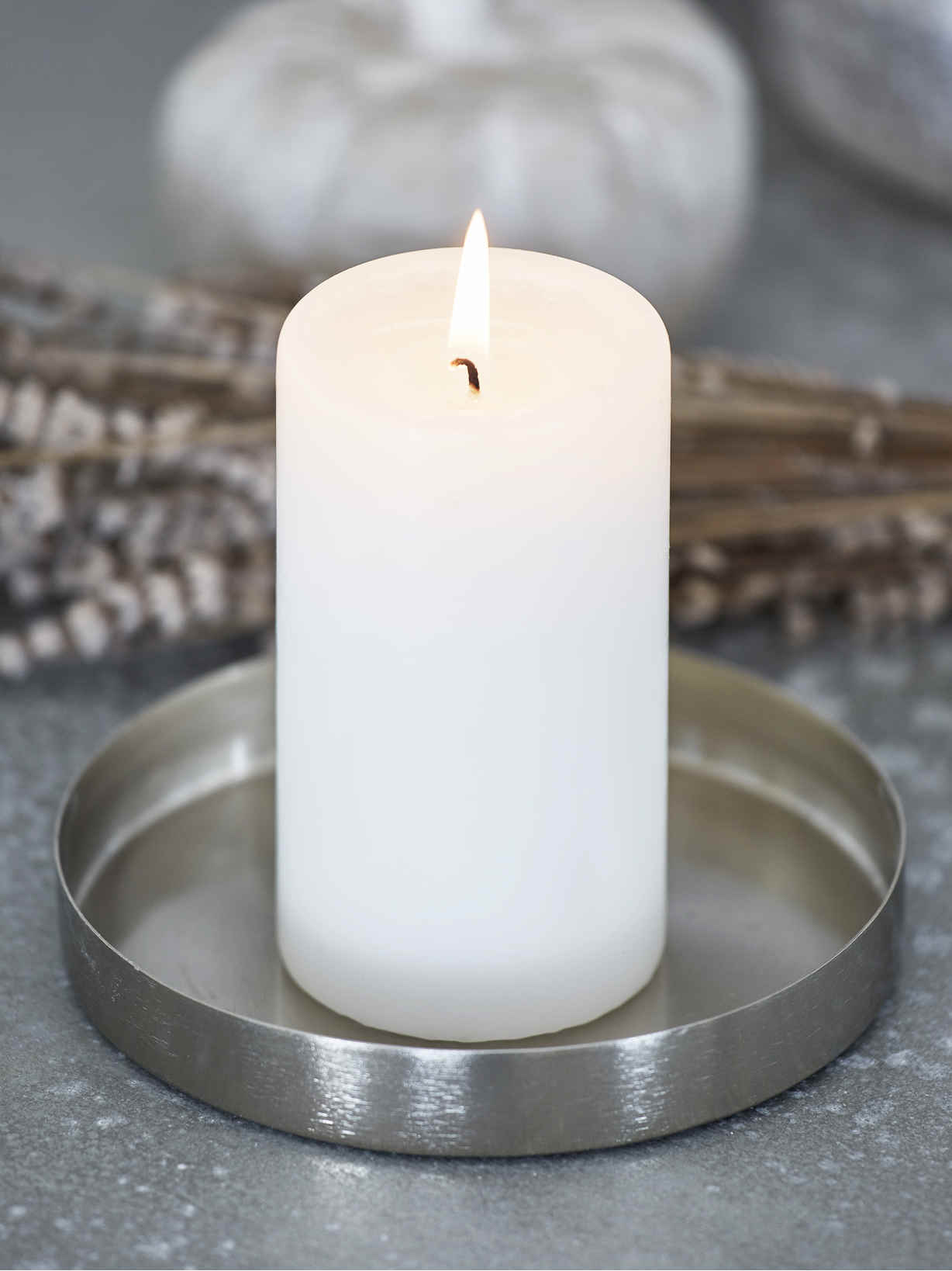 Nordic House Metal Candle Tray