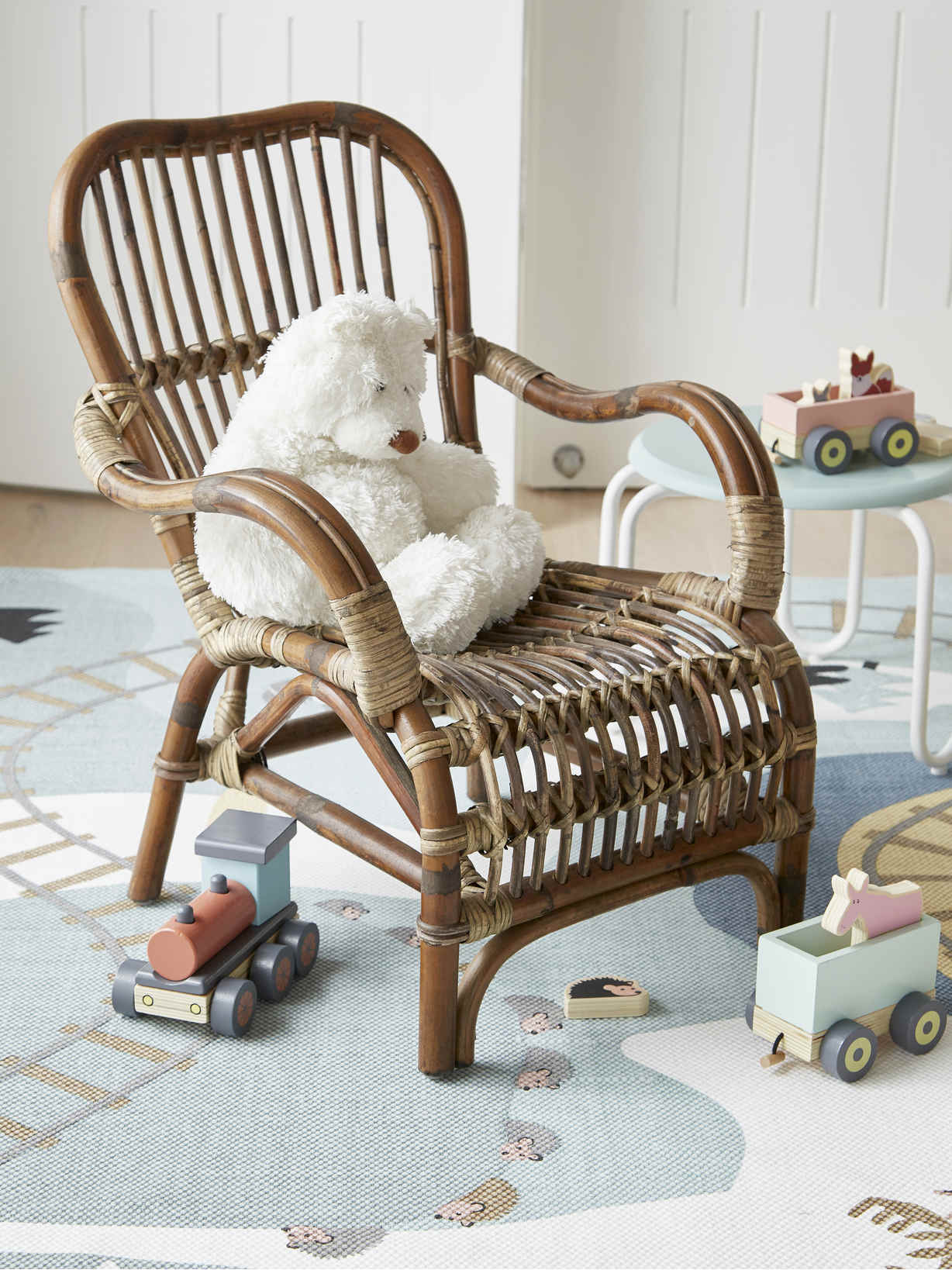 Nordic House Rattan Kids Armchair