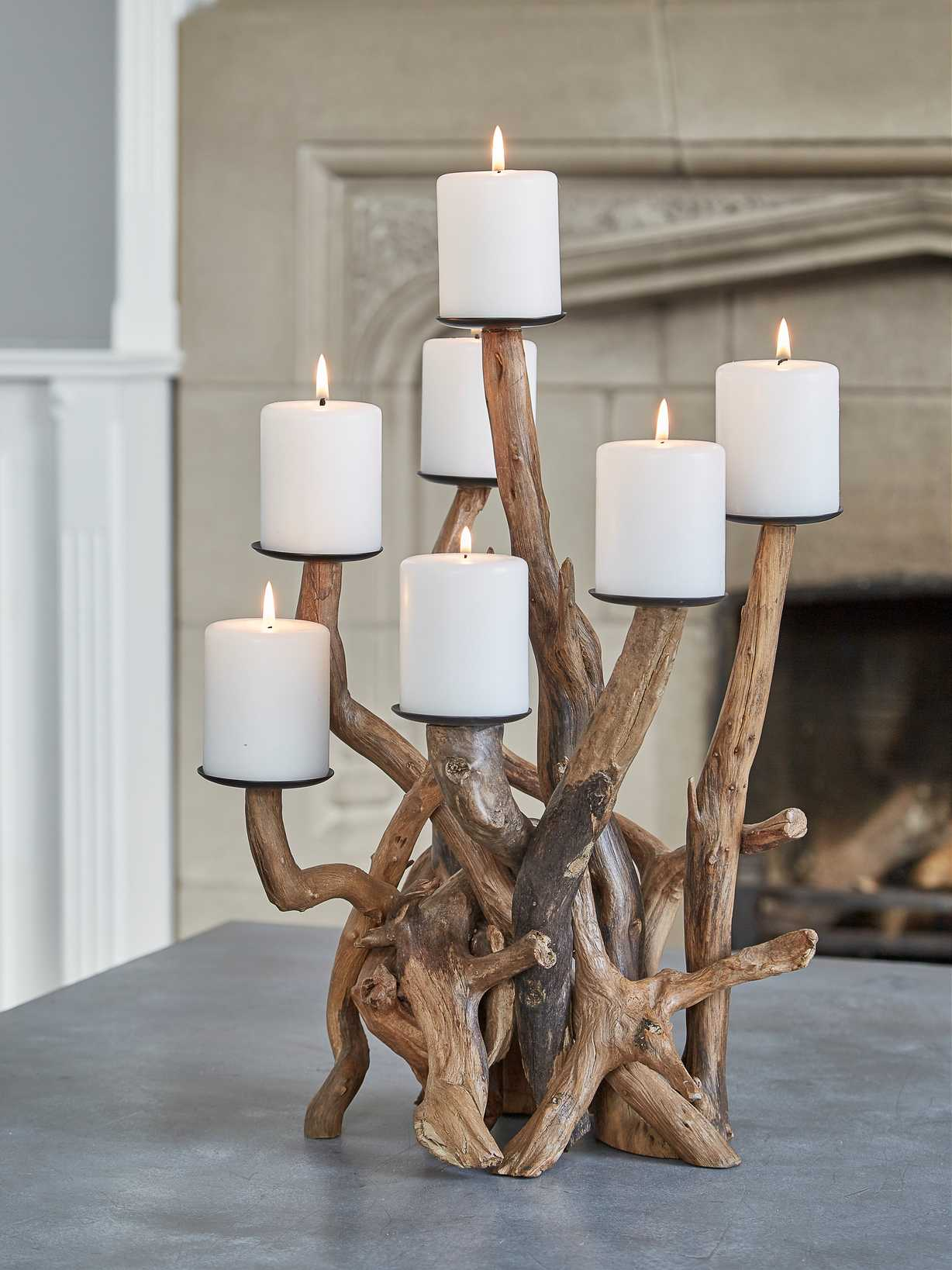 Nordic House Driftwood Candelabra