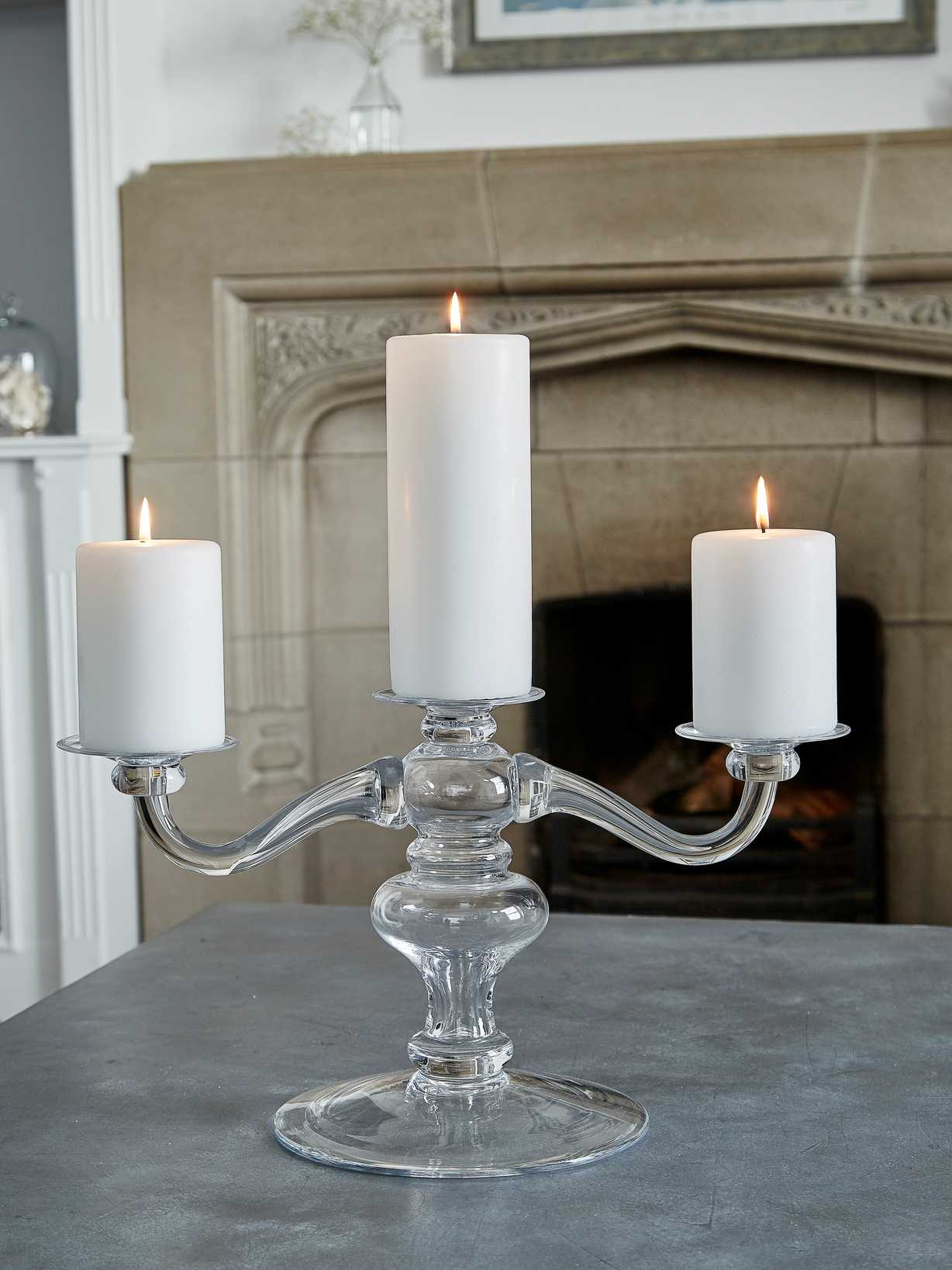 Nordic House Pure Handblown Glass Candelabra
