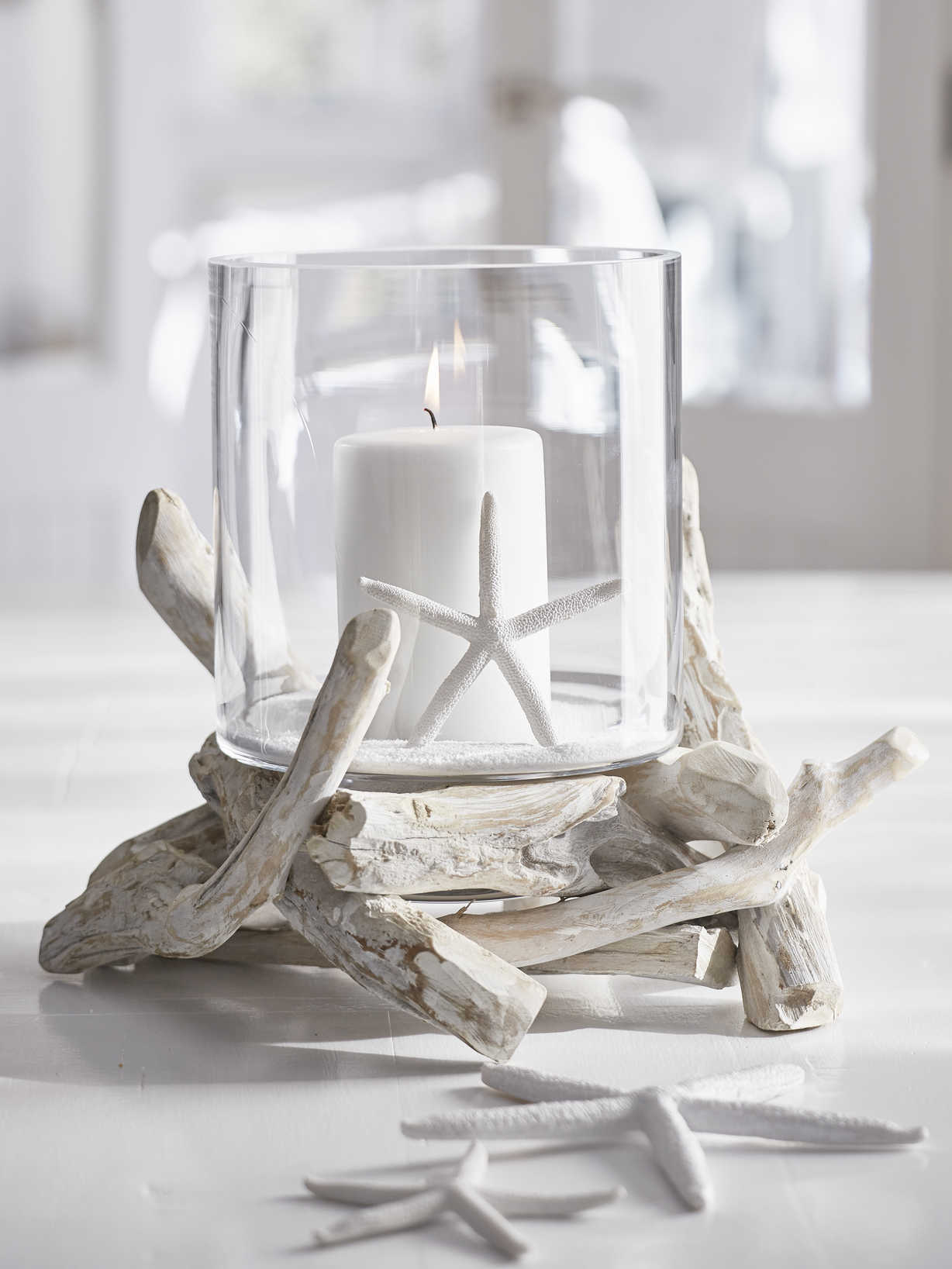 Nordic House Nautical Driftwood Hurricane