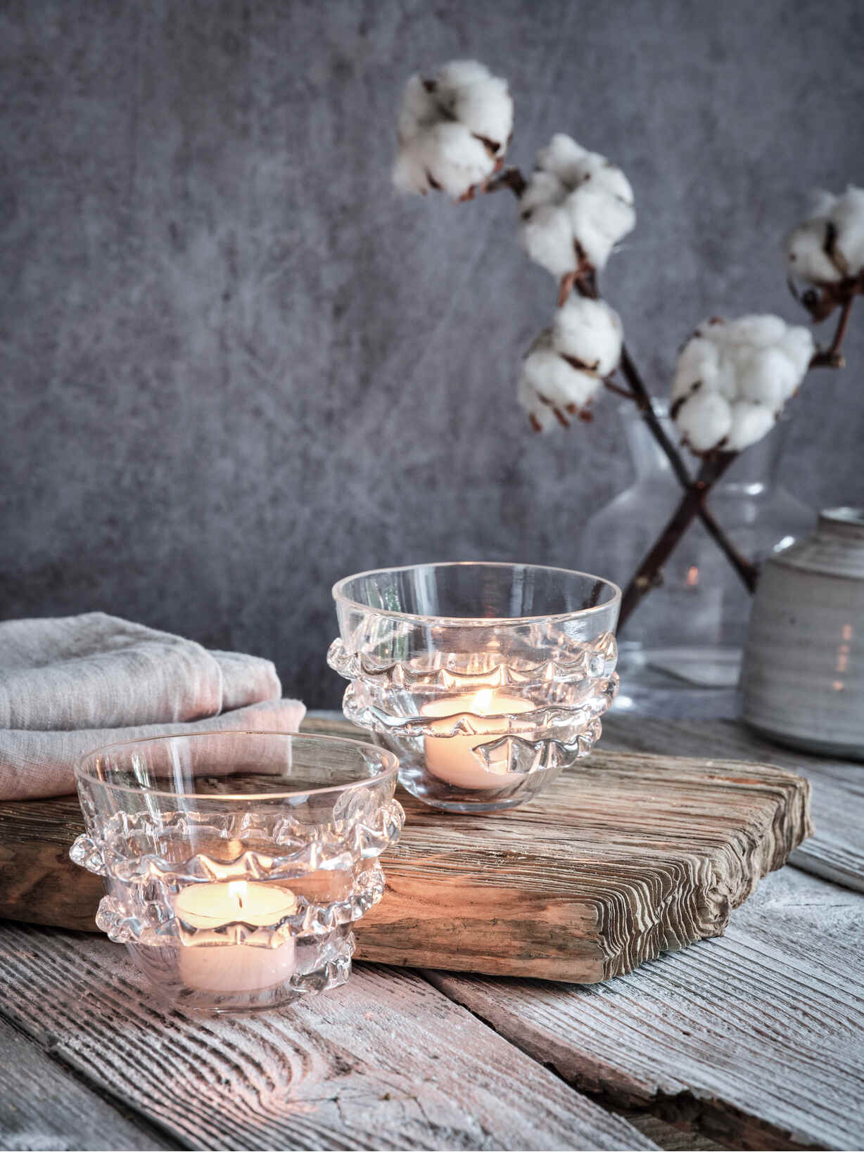 Nordic House Exquisite Glass Tealight Holder