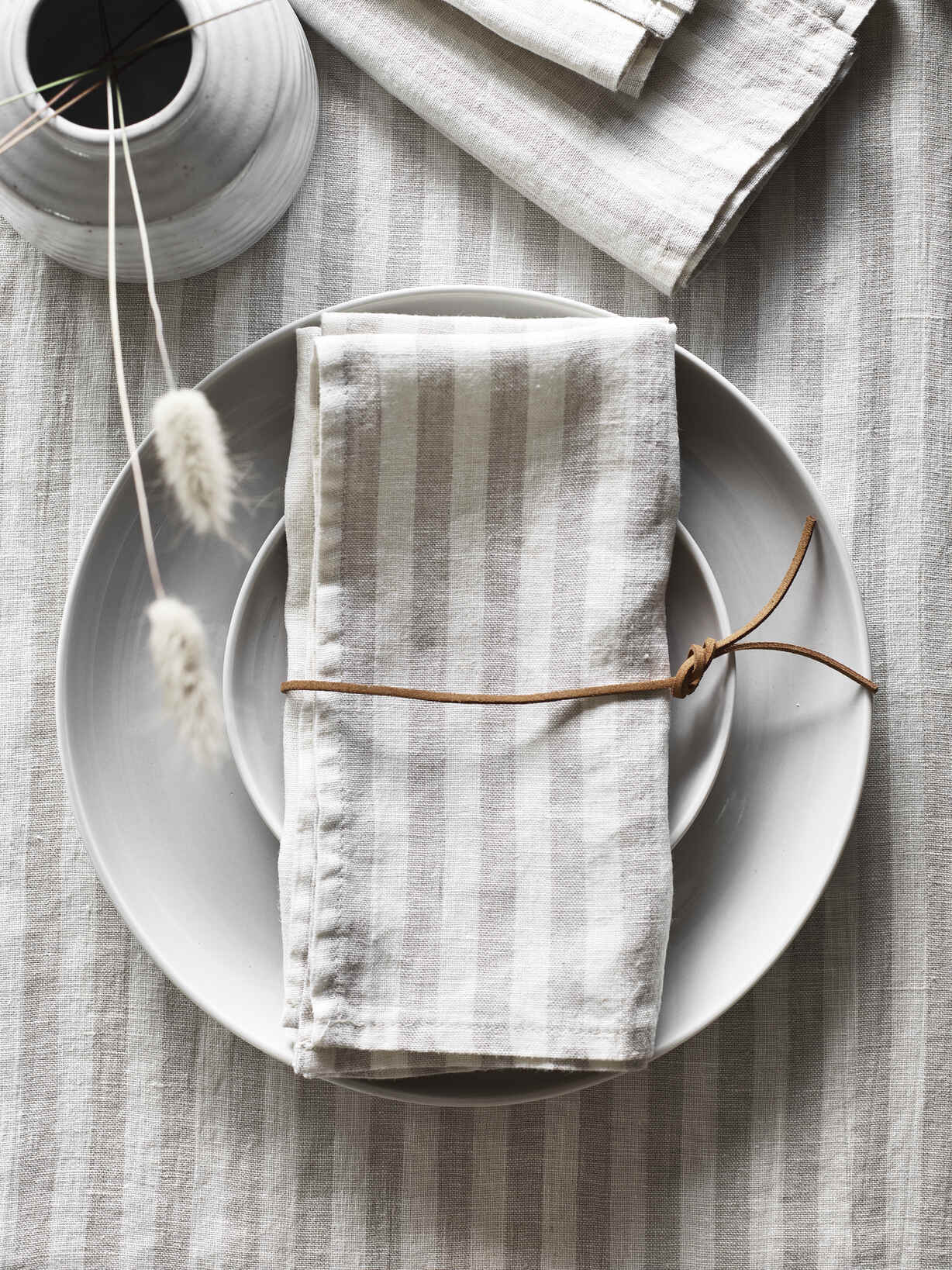 Nordic House Natural Stripe Napkins