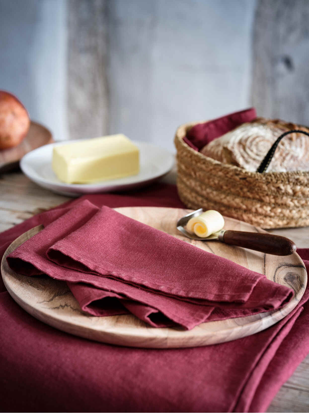 Nordic House Mulberry Linen Napkins